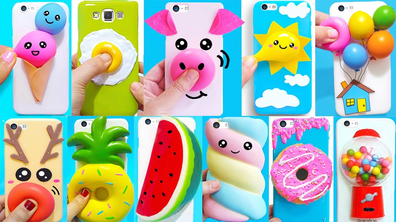 30 DIY STRESS RELIEVER PHONE CASES | Easy & Cute DIY Phone Cases