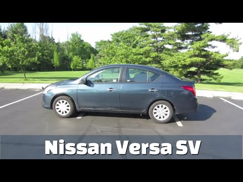 2017 Nissan Versa SV Sedan // Detailed Rental Car Review and Test Drive