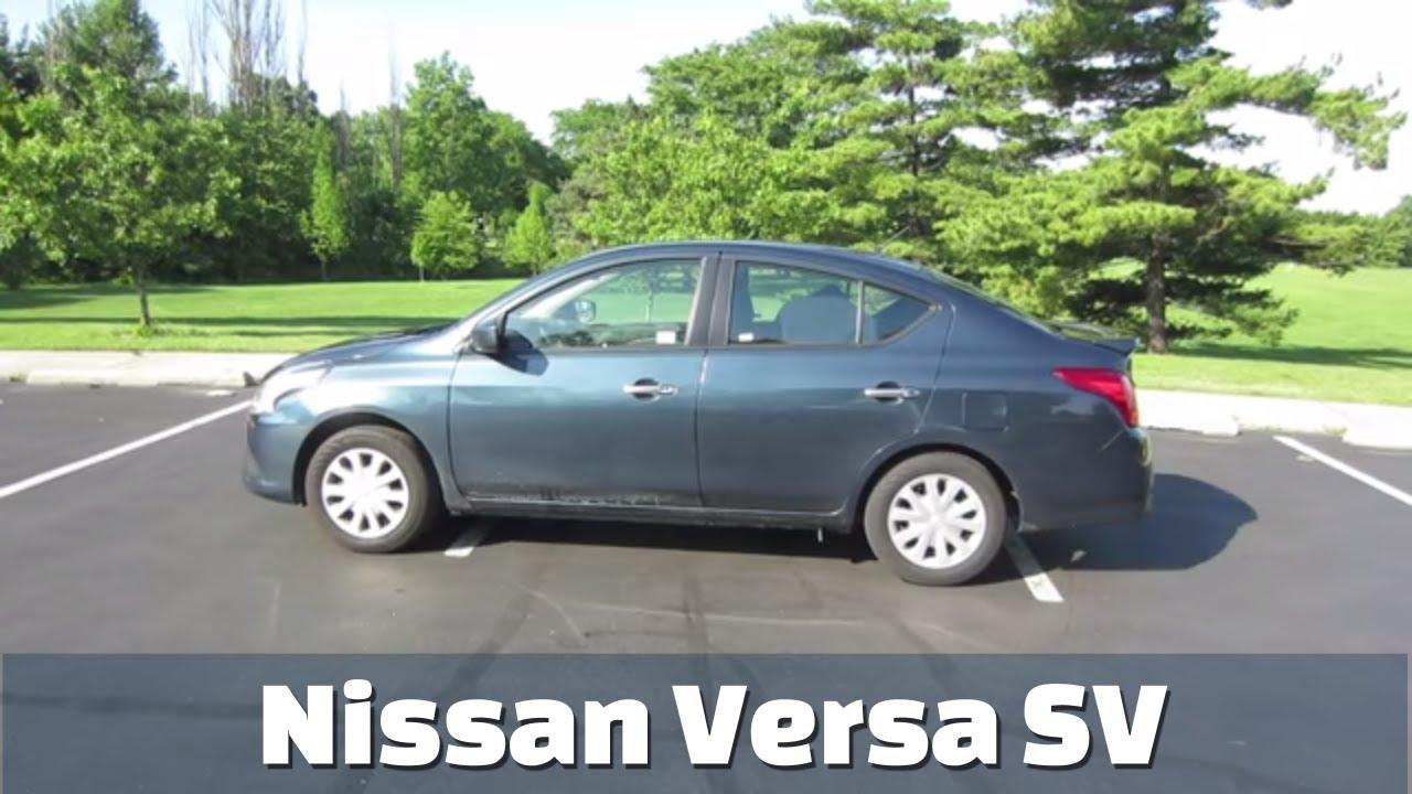 2017 nissan versa sv sedan detailed rental car review and test drive youtube. Black Bedroom Furniture Sets. Home Design Ideas