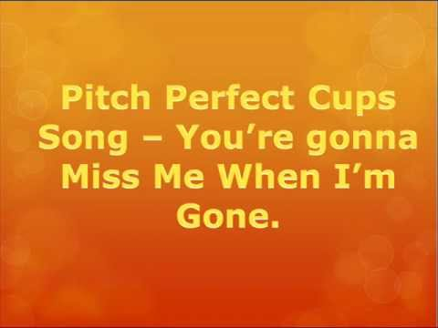 The Cup Song - Pitch Perfect (WITH LYRICS)