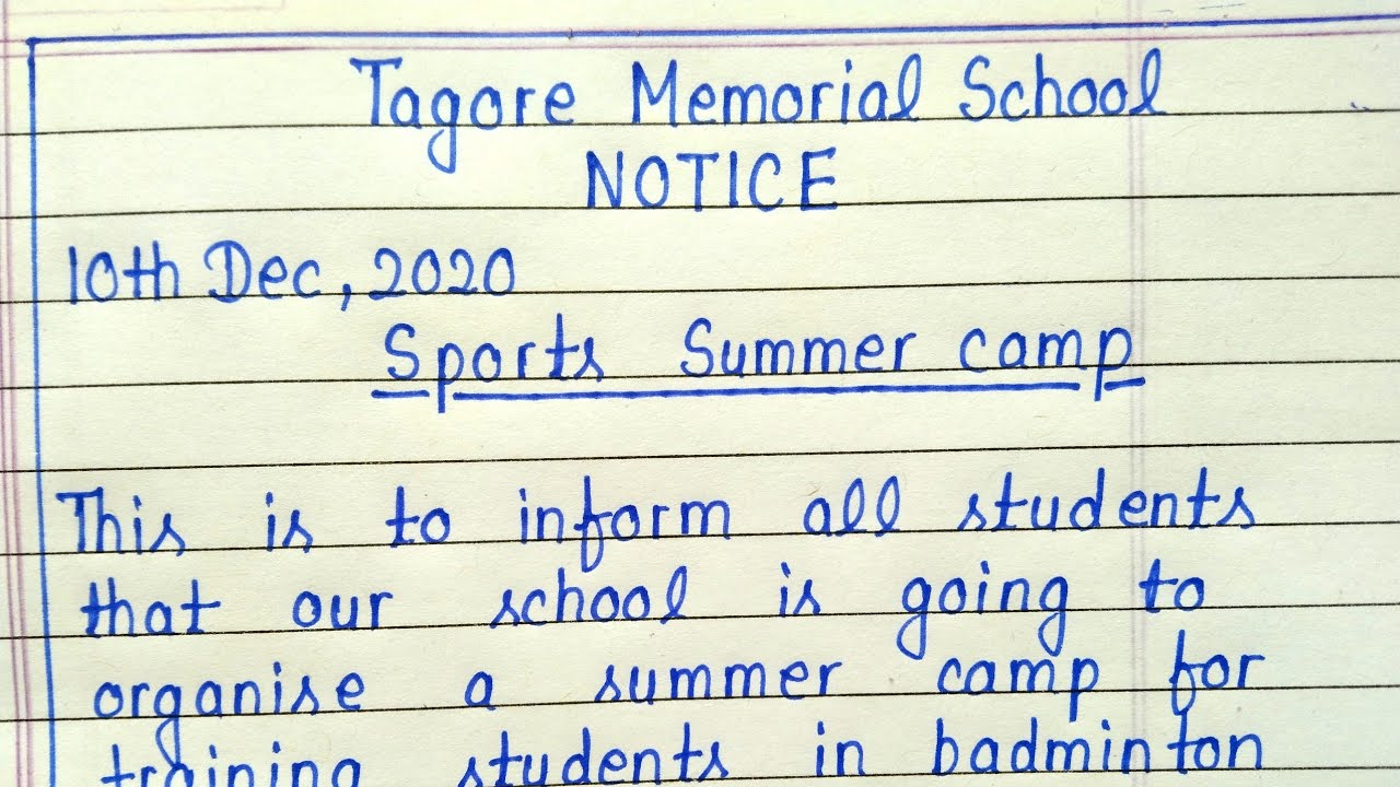 Download Notice writing    How to write Notice    English