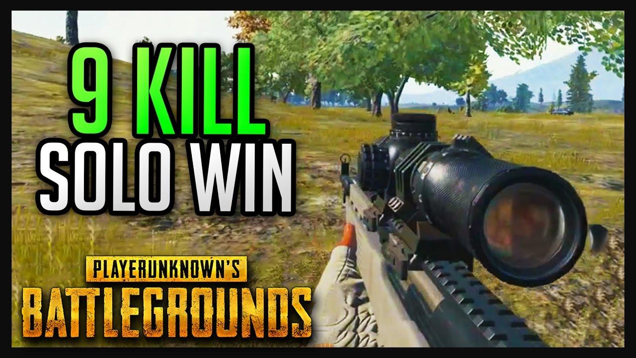 9 Kill Solo Win Pubg Gameplay