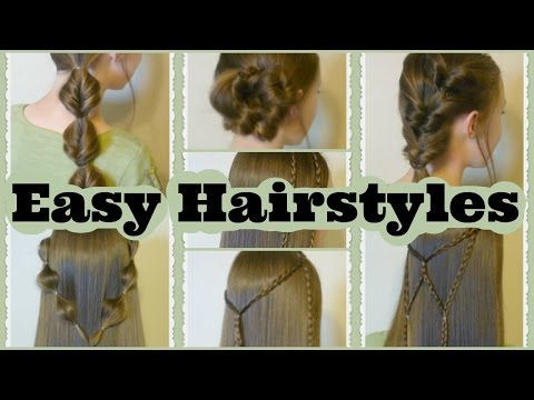 7 Quick and Easy Hairstyles, Part 2