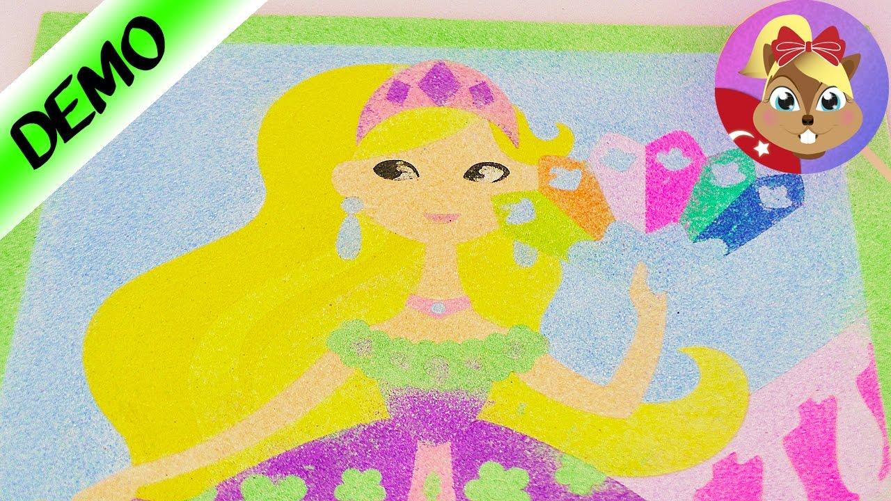 Prenses Boyama Oyunu Diy Set Cocuklar Icin Prensesleri Kumlan
