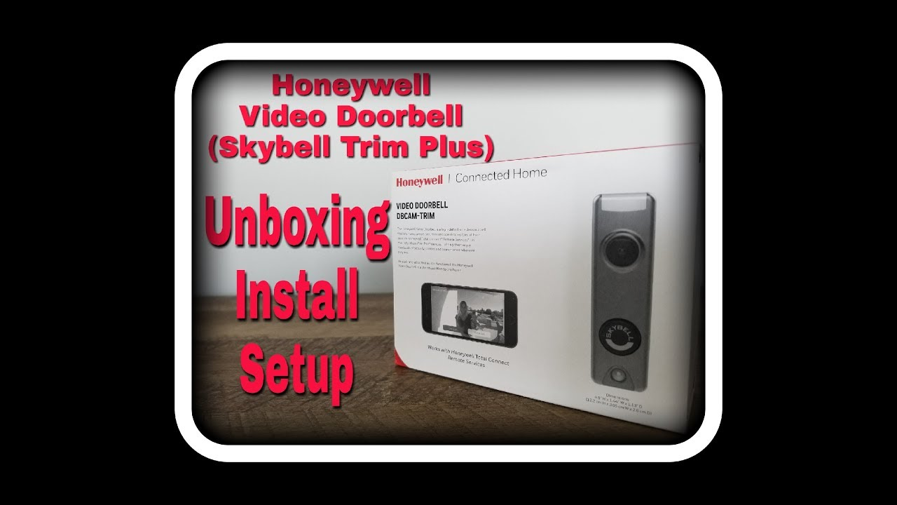Silver Honeywell DBCAM-TRIM SkyBell Trim 1080p Wi-Fi Video Doorbell