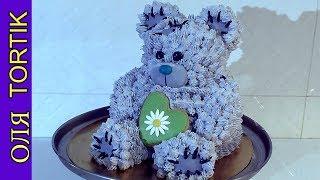 Скачать 3д торт Мишка Как собрать и украсить кремовый торт 3D Cake Bear Olya Tortik