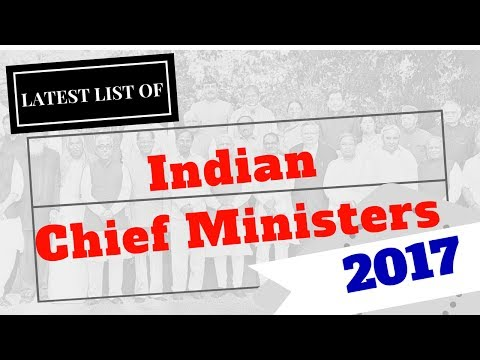 Latest List of Indian Chief ministers 2017