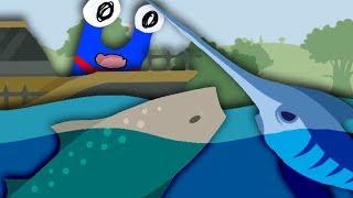 Die Meister-Angel und Riesenfische
