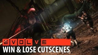 Evolve: Evacuation Hunter and Monster Win Cinematics