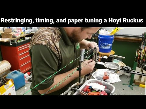 Restringing, timing, and paper tuning a Hoyt Ruckus @ The Archeryshack