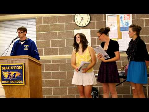 Coach Rowe's presentation of Mauston High School Soccer player, Carly Johnson.