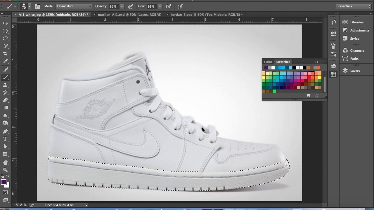 e38b3cff330f How to Create a Sneaker Template to Paint Using Photoshop - YouTube