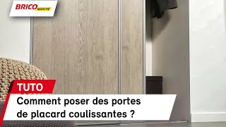 Comment Installer Des Portes De Placard Coulissantes Bricomarche Youtube