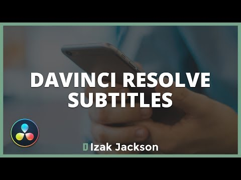 How To Create SUBTITLES In Davinci Resolve