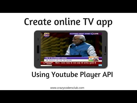 Create Online TV Application | Android App Using YouTube API