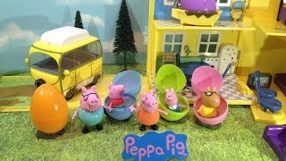 Peppa Pig Hidden Egg Surprise Toy Hunt Video with Daddy Pig