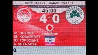 ΟΛΥΜΠΙΑΚΟΣ - ΠΑΝΑΘΗΝΑΙΚΟΣ  4-0 ΚΥΠΕΛΛΟ 2007-08