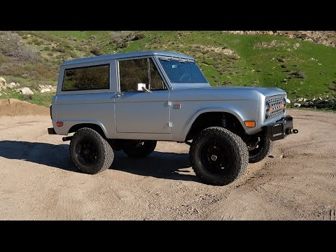 ICON BR Restored And Modified Vintage Ford Bronco Final test Drive