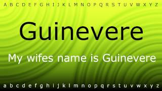 this is how to pronounce guinevere with zira mp4