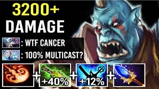 3000+ Damage Stun +52% Magic Scepter Ogre Magi Carry Melt Enemy Epic Fun Gameplay by Aui Dota 2
