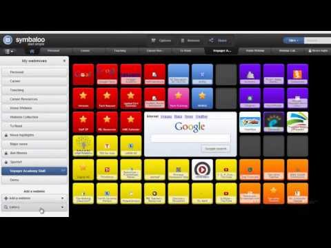 Using Symbaloo (a bookmarking service) in Education