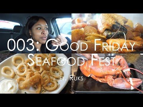 VLOG 003: GOOD FRIDAY SEAFOOD FEST | Crab Boil, Calamari, Lobster & Stovetop Mac • Malaika Malz