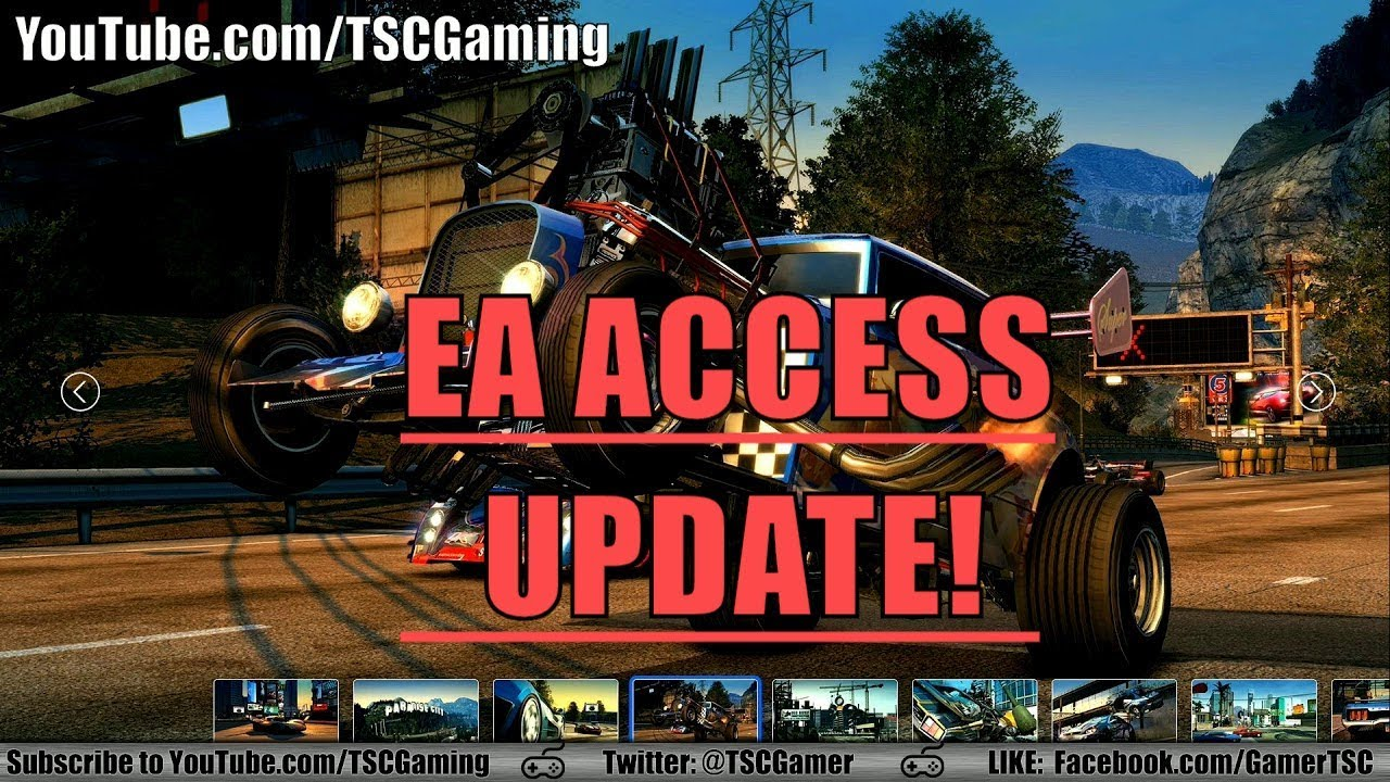 burnout paradise remastered game trial added to ea access. Black Bedroom Furniture Sets. Home Design Ideas