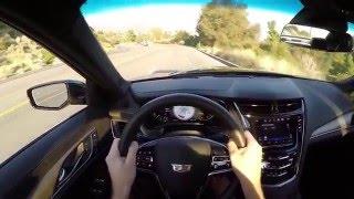 2016 Cadillac CTS V Sedan WR TV POV City Drive