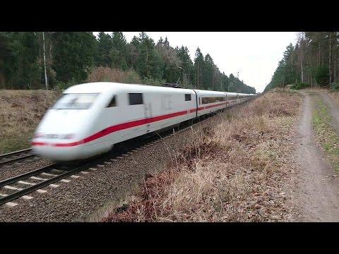 Mit 200 km/h durch die Nordheide - ICE 1 und ICE 2 zwischen Hamburg und Uelzen