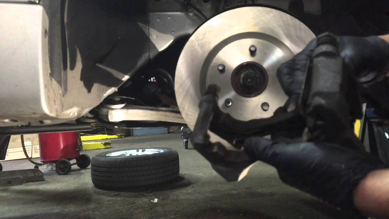 How To Replace Nissan Altima Front Brakes And Rotors Repair Guides Disc Brake Caliper Autozonecom