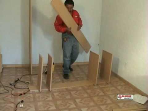 Como instalar un closet playcon parte 1 youtube - Como poner un suelo de madera ...