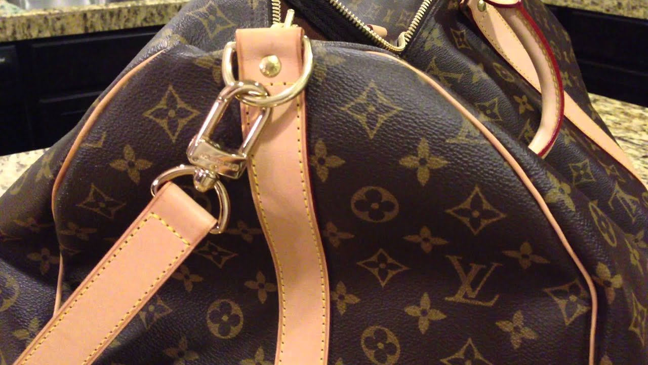5458dc56d78b Louis Vuitton Keepall 60 Bandoulière REVIEW - YouTube