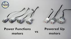 LEGO Technic Powered Up motors vs. Power Functions motors