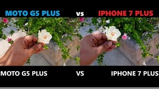 MOTO G5 PLUS vs IPHONE 7 PLUS CAMERA TEST