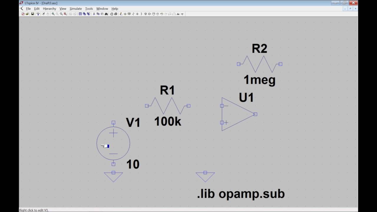 Ltspice Inverting Op Amp Tutorial For Windows How To Ep 42 Youtube Does This Opamp Noninverting Amplifier Work