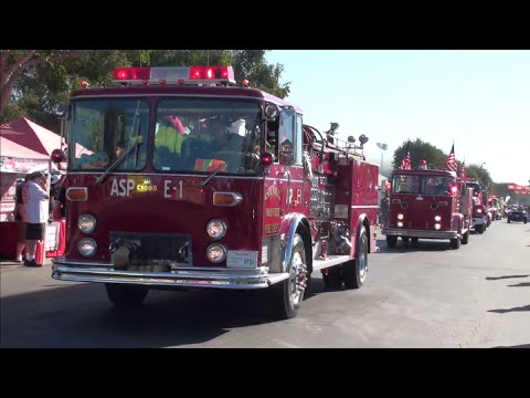 17th Annual Cruisin' for a Cure (2016) - Fire Truck Parade & Ride Along