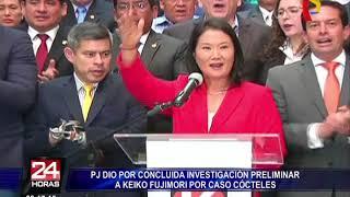PJ finalizó etapa de investigación preliminar contra Keiko Fujimori por caso Cócteles