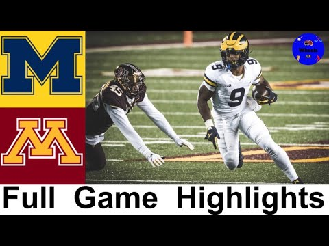 #18 Michigan vs #21 Minnesota Highlights | College Football Week 8 | 2020 College Football Highlight