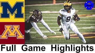 #18 Michigan vs #21 Minnesota Highlights | College Football Week 8 | 2020 College Football Highlight