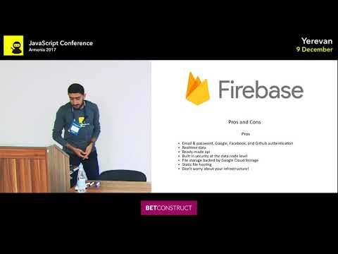 Real Time Applications with Firebase and React by Slavik Manukyan | JS Conf Armenia 2017