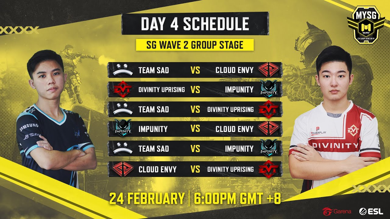 🔴 LIVE MYSG Championship: Wave 2 Group Stage Day 4 - SG