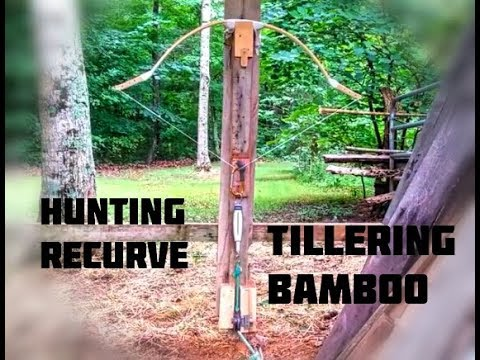 Build the Bamboo Deflex Recurve bow with a rasp! Part 1