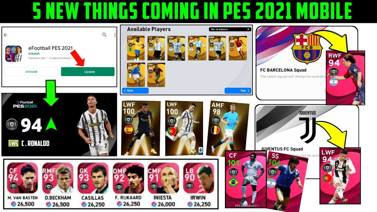 5 NEW BIG CHANGES COMING IN PES 2021 MOBILE !!
