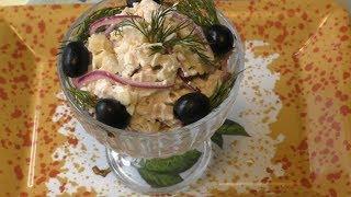Салат Очаровашка с сыром,курицей,соленым огурчиком на каждый день