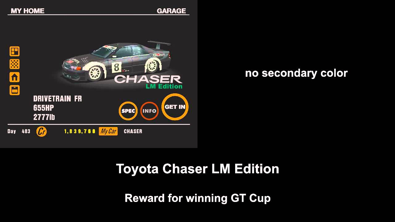 All prizes in gt5 cars