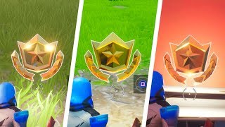All Secret Battle Stars Week 1-3 Emplacements (Saison 10) - Fortnite Battle Royale
