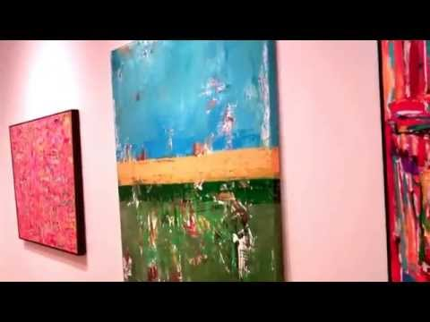 Big Huge Green Blue Abstract Landscape Painting Sulphate by Shawn McNulty 60×60