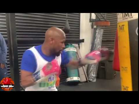Floyd Mayweather Late Night Workout Session On The Heavybag. 2020 Comeback? HoopJab Boxing