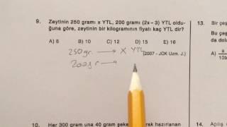 ösym sınavlarında çıkmış matematik soru çözümleri - sayı problemleri test 1/4