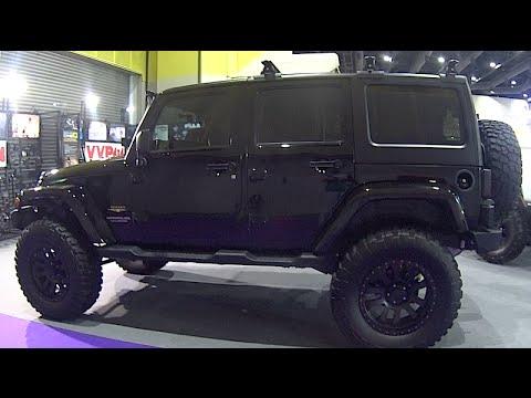 Custom modified Jeep Wrangler Rubicon Unlimited Black ...